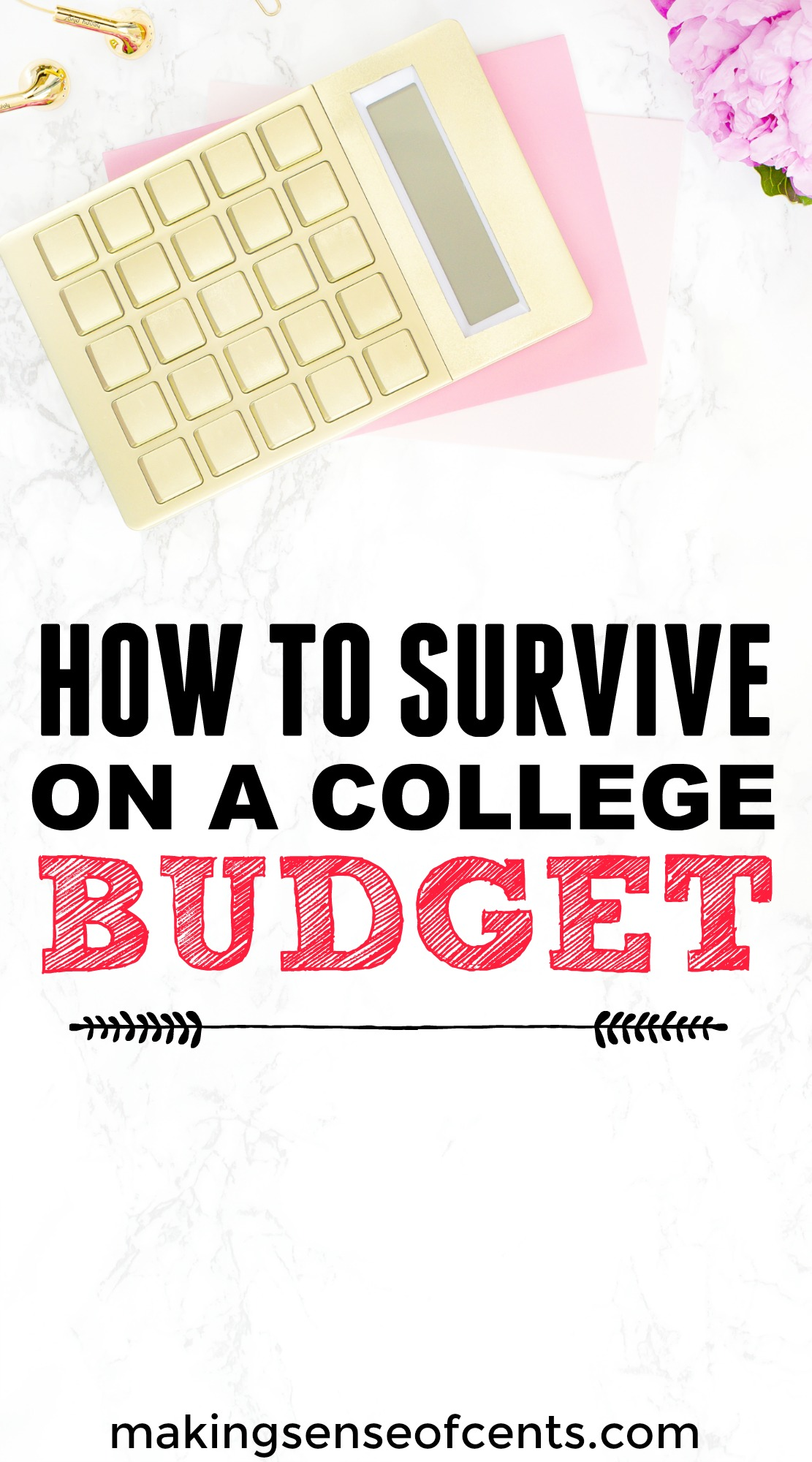 Find out how to survive on a college budget here. This is a great list!
