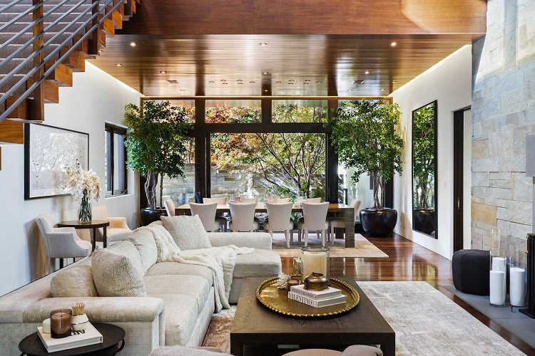 inside matt damon's beautiful house in los angeles